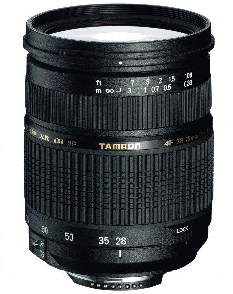 image objectif Tamron 28-75 SP 28-75mm F/2.8 XR Di LD ASL IF MACRO