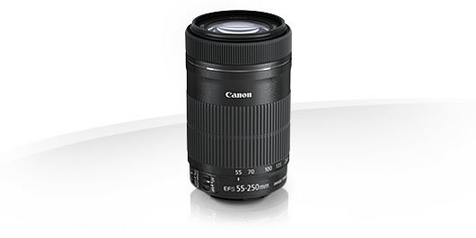 image objectif Canon 55-250 EF-S 55-250mm f/4-5.6 IS STM