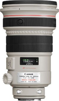 image objectif Canon 200 EF 200mm f/2L IS USM