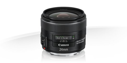 image objectif Canon 24 EF 24mm f/2.8 IS USM
