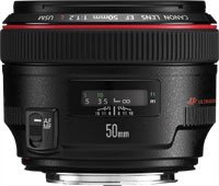 image objectif Canon 50 EF 50mm f 1.2L USM