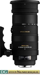 image objectif Sigma 50-500 50-500mm F4.5-6.3 DG APO OS HSM pour Canon