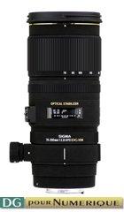 image objectif Sigma 70-200 70-200mm F2.8 EX DG APO OS HSM pour Konica