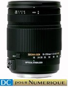 image objectif Sigma 18-250 18-250mm F3.5-6.3 DC OS