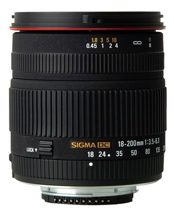 image objectif Sigma 18-200 18-200mm F3.5-6.3 DC
