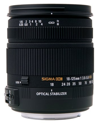 image objectif Sigma 18-125 18-125mm F3.8-5.6 DC OS HSM