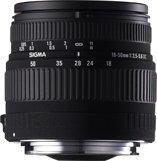 image objectif Sigma 18-50 18-50mm F3.5-5.6 DC