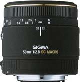 image objectif Sigma 50 50mm F2.8 DG Macro EX