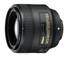 image objectif Nikon 85 AF-S NIKKOR 85 mm f/1.8G