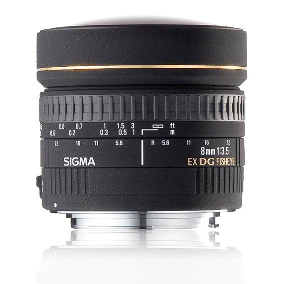 image objectif Sigma 8 8mm F3.5 EX DG CIRCULAR FISHEYE
