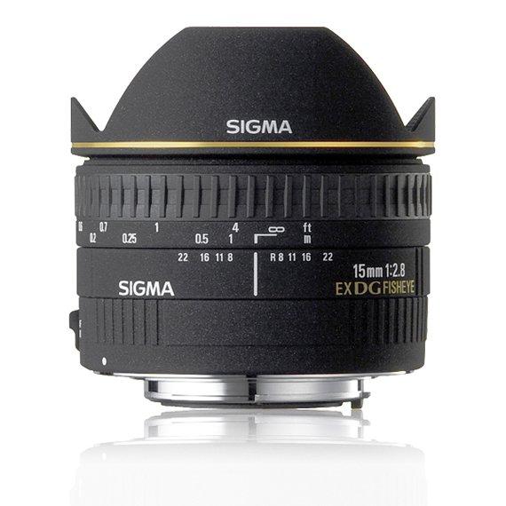 image objectif Sigma 15 15mm F2.8 EX DG DIAGONAL FISHEYE