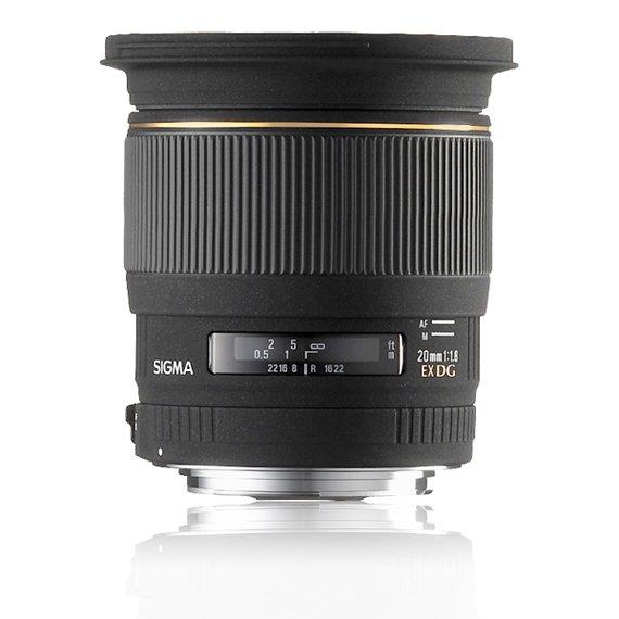 image objectif Sigma 20 20mm F1.8 EX DG ASPHERIQUE RF