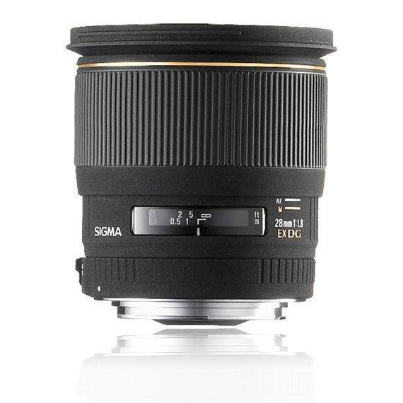 image objectif Sigma 28 28mm F1.8 EX DG ASPHERIQUE MACRO