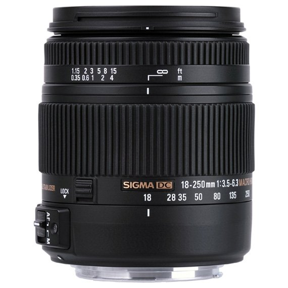 image objectif Sigma 18-250 18-250mm F3.5-6.3 DC MACRO OS* HSM