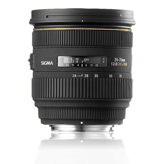 image objectif Sigma 24-70 24-70mm F2.8 IF EX DG HSM